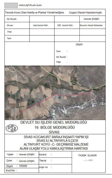 DSİ Sivas Kocakurt Barajı İnşaatı Yapım İşi